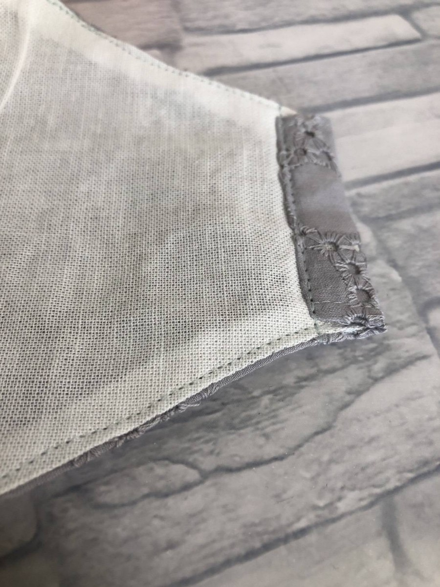 コットンレース刺繍立体インナーカバー二枚セット