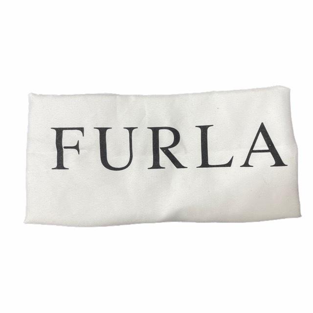 FURLA フルラ ハンドバッグ トートバッグ ドーム型 バイカラー レザー ピンク グレージュ ロゴ ゴールド金具_画像7