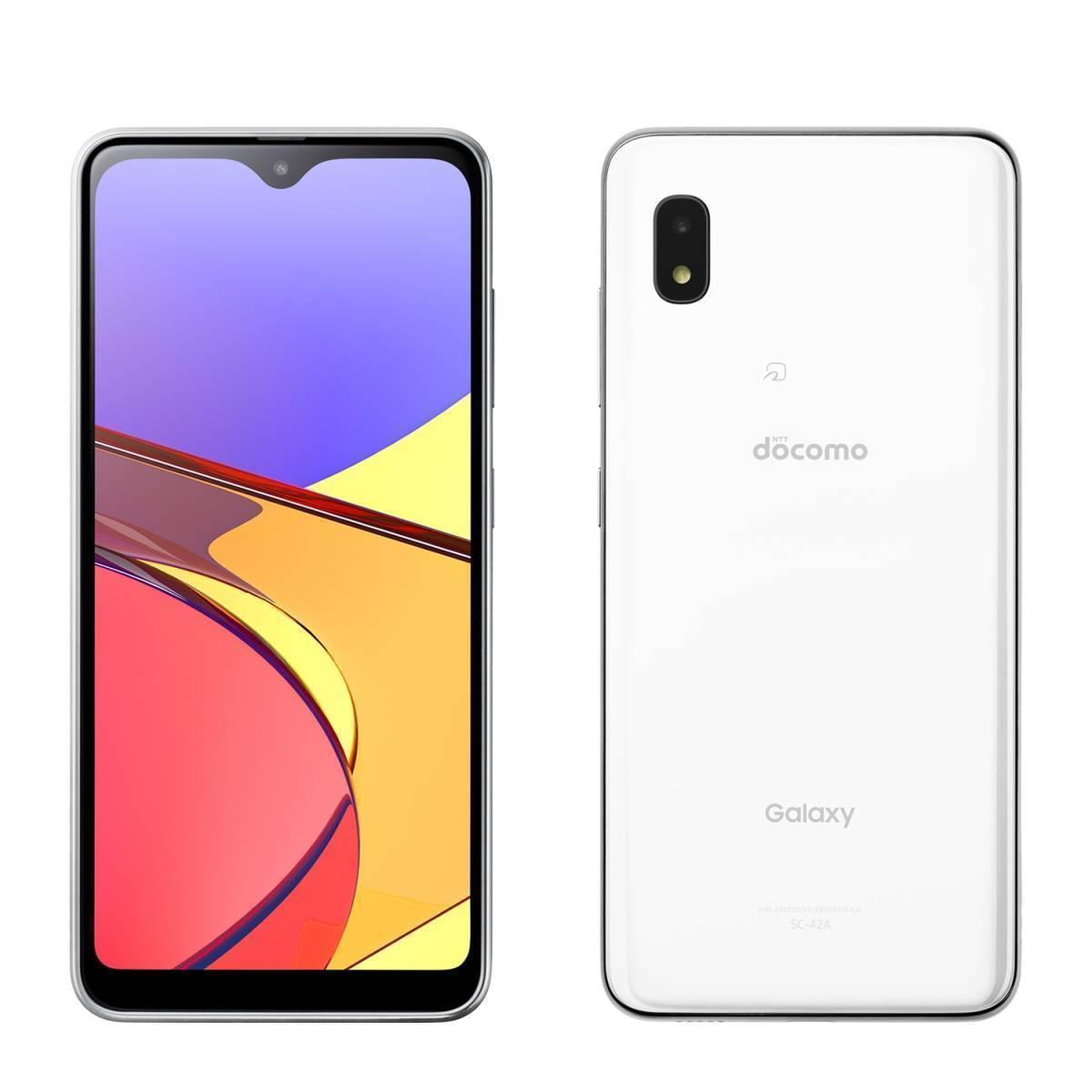 3.送料無料 新品同様 SIMロック解除済(SIMフリー) docomo Galaxy A21 SC-42A ホワイト 本体_画像1