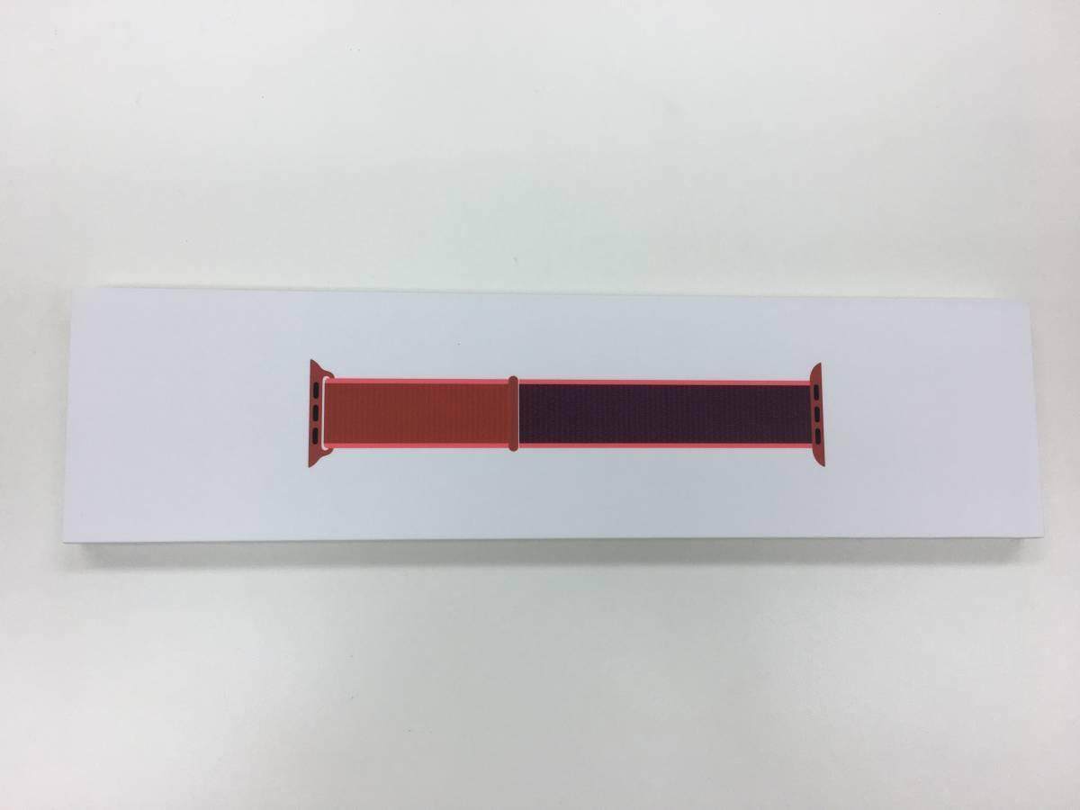 【送料無料】新品未開封品 Apple Watch純正品バンド 38mm/40mmケース用 レッドスポーツループ MXHV2FE/A アップル正規品 交換用ベルト_画像2