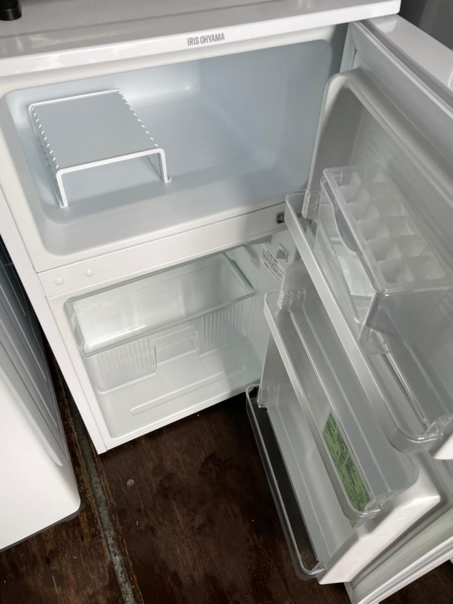アイリスオーヤマ  2ドア 冷蔵庫90L 2018年製 ホワイト IRR-90TF
