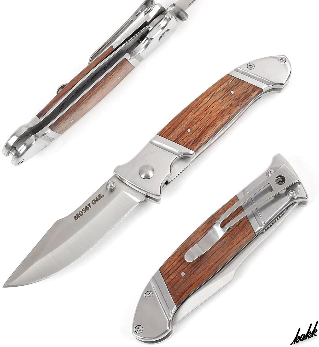 【フォールディングナイフ3本セット】 折りたたみナイフ ステンレス鋼 ウッドハンドル サイドロック機能 クリップ アウトドア包丁 釣り