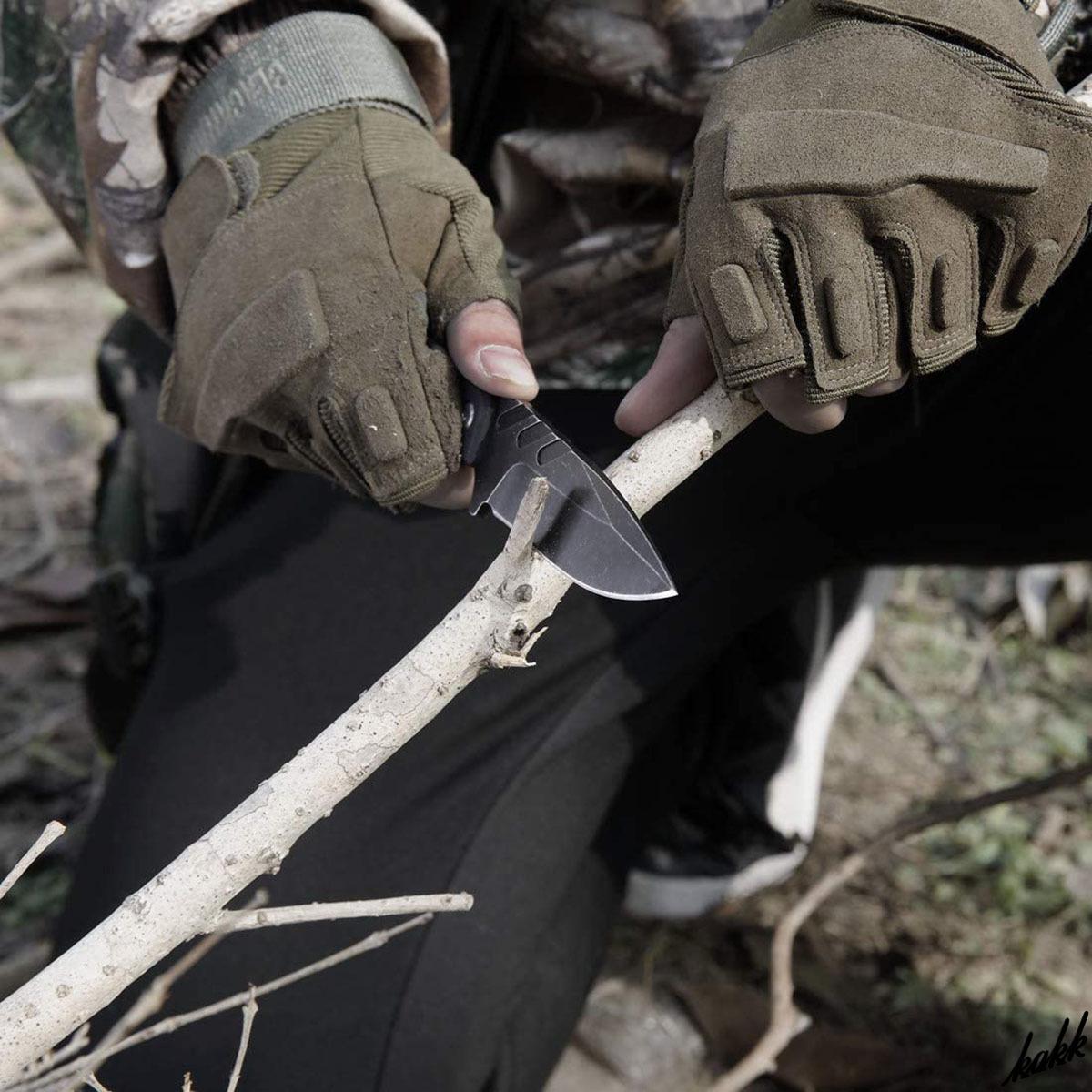 【小型シースナイフ】 フルタング構造 G10ハンドル ドロップポイント ABS樹脂 ストーンウォッシュ処理 アウトドア包丁 キャンプ 釣り