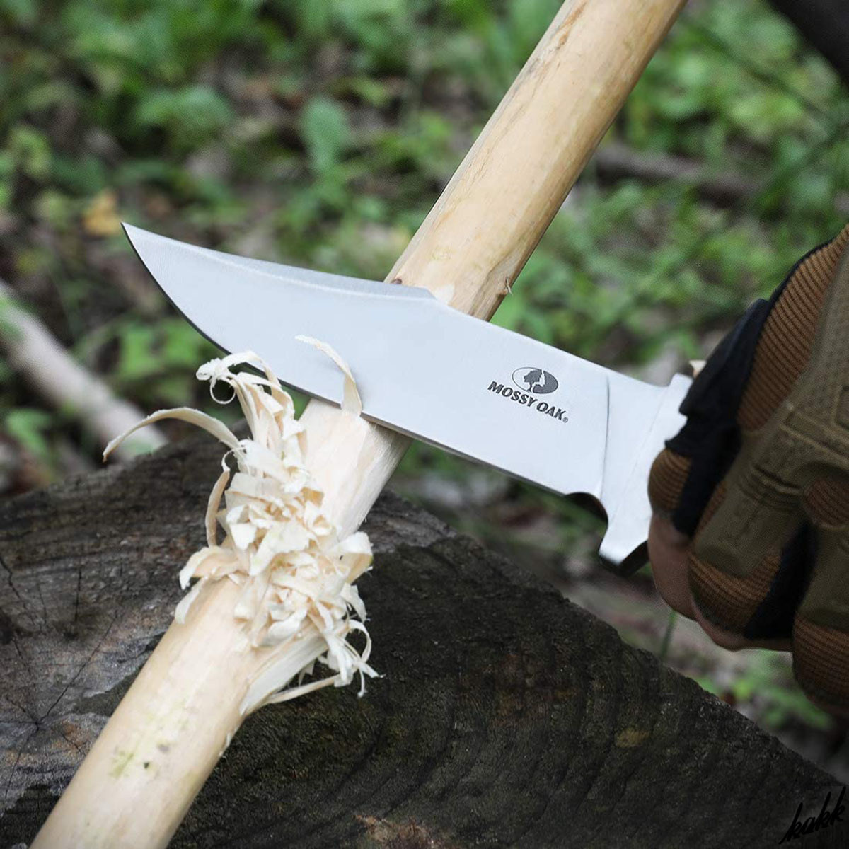 【錆びにくく長持ち】 シースナイフ フルタング 天然ウッドハンドル ステンレス サテン仕上げ 狩猟刀 キャンプ サバイバル