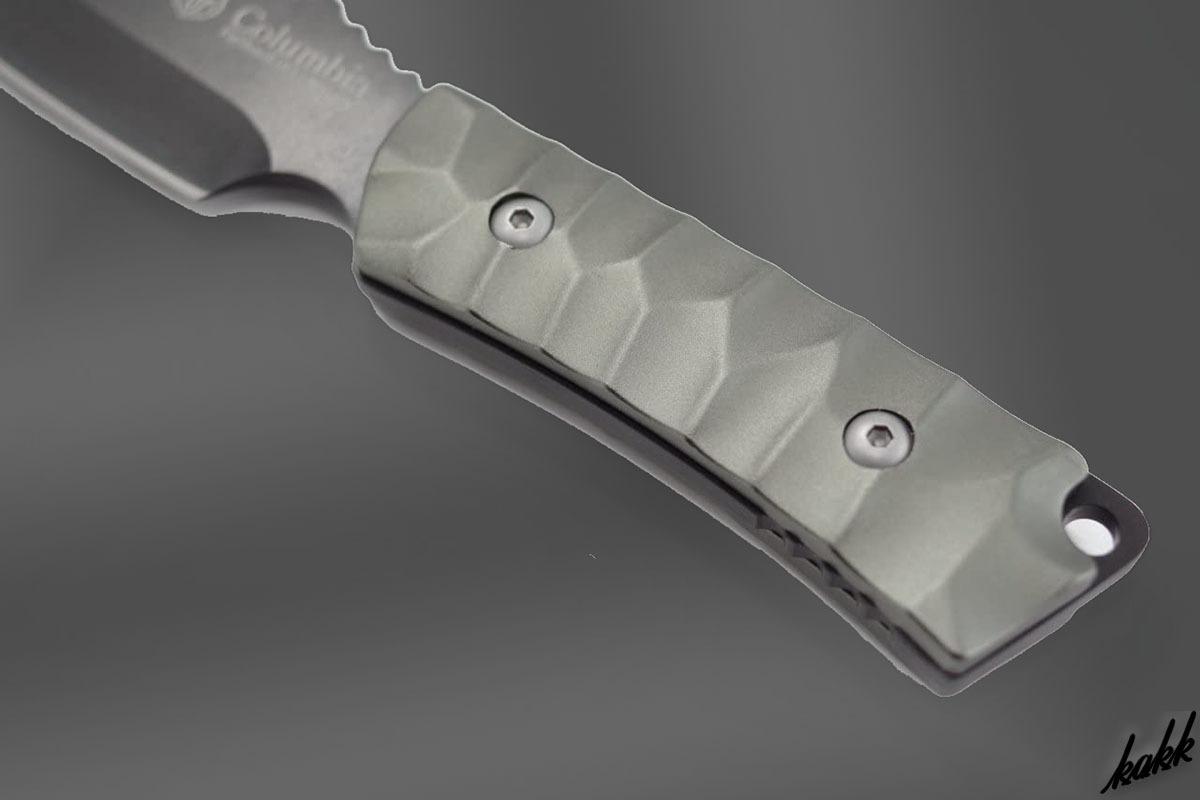 【フルメタルシースナイフ】 狩猟刀 ステンレススチール フルタング構造 スピアポイント ランヤードホール付き キャンプ サバイバル