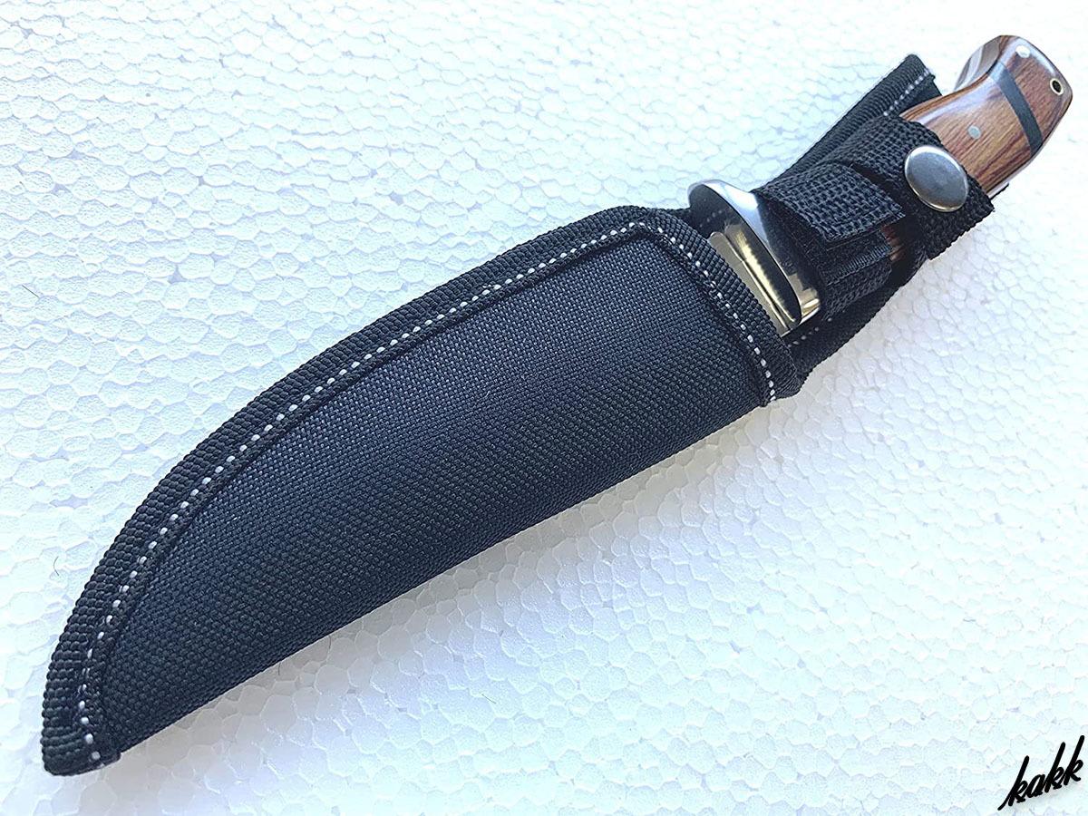 シースナイフ ウッドハンドル ステンレス鋼 アウトドア包丁 キャンプ サバイバル フィッシング シース付き