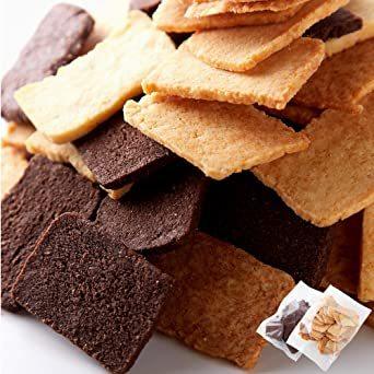 天然生活 訳 あり グルテンフリー おからクッキー(500g)プレーン ココア 2種 米粉 生おから おやつ 簡易包装 お菓子_画像1