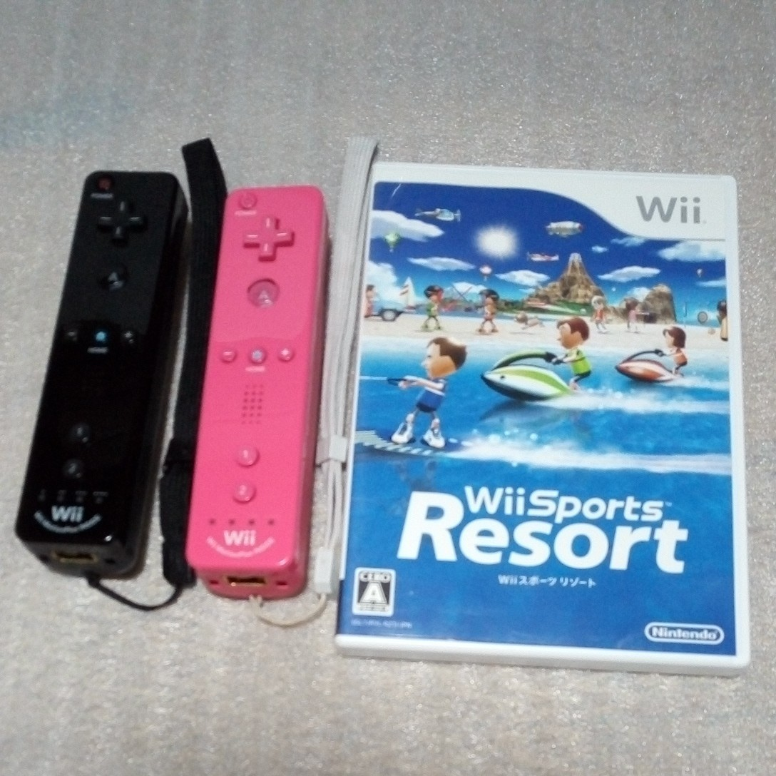 wiiソフト Wiiスポーツリゾート  Wiiリモコンプラスピンク、クロセット