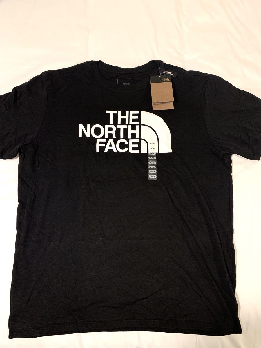 ★新品★ The North Face ハーフドームロゴ Tシャツ 半袖 XL  ザノースフェイス ビッグロゴ 海外 黒T 海外