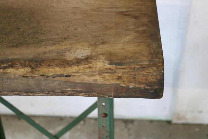 TB526ビンテージ 鉄脚 1対と板のセット◇天板/枯れ木/木味/錆味/テーブル/DIY/リメイク/鉄足/飾り台/家具/古道具タグボート_画像7