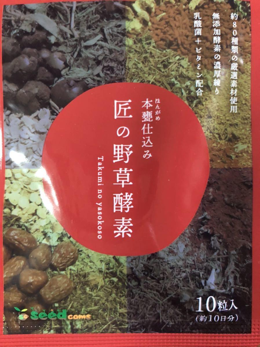 匠の野草酵素☆10日分 サプリメント/シードコムス_画像1
