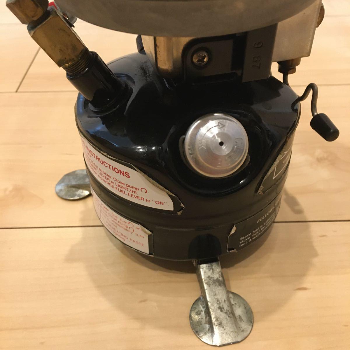 Coleman コールマン シングルバーナー MODEL PEAK1 400A701 STOVE ツーレバーモデル