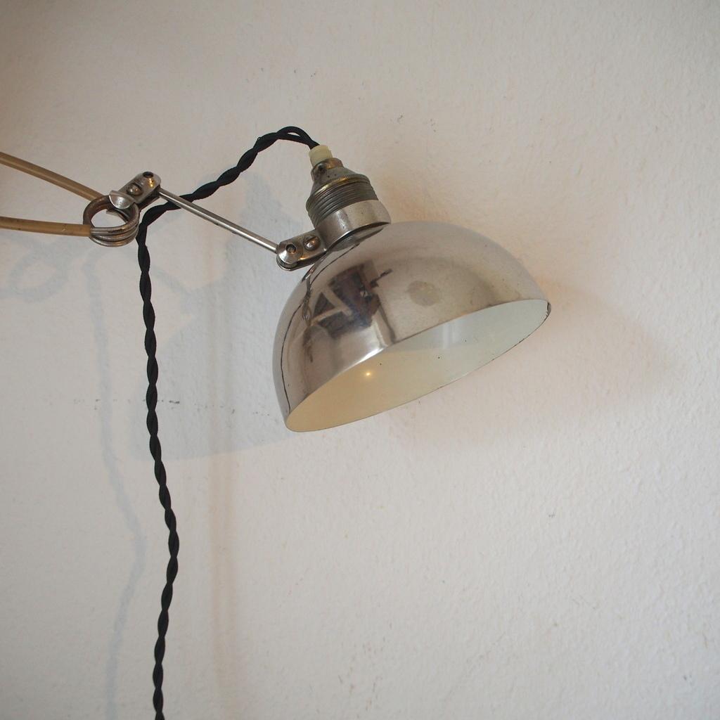 フランス ヴィテージ メタル製 クリップランプ 照明スポット バウハウス アトリエ 工業系ライト デスクランプ ミッドセンチュリー 店舗什器_画像3