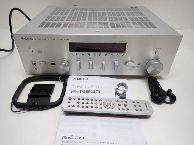 美品 YAMAHA R-N803 ヤマハ ネットワークレシーバー アンプ Bluetooth/ラジオ/USB-DAC搭載 リモコン/説明書/元箱等付 ♪ 61E1D-3