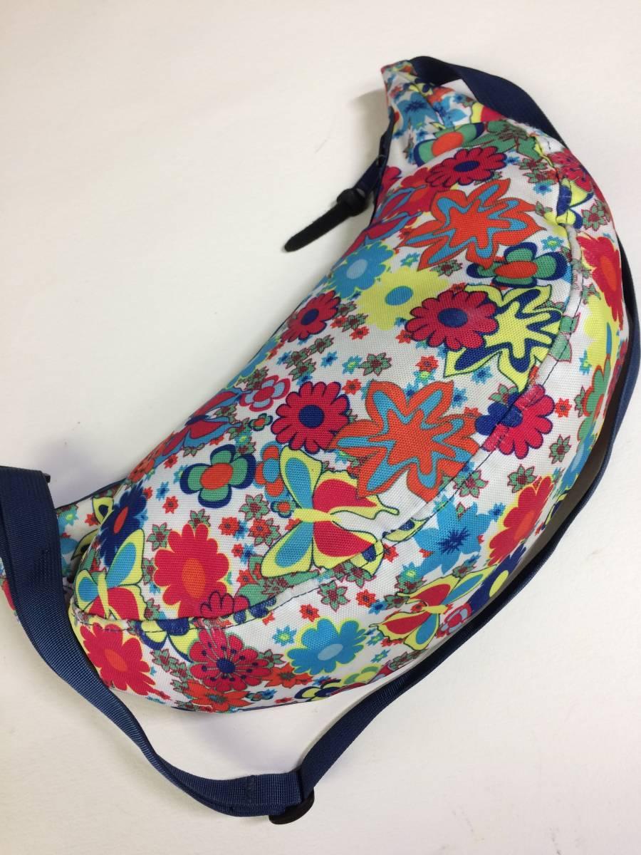 USA製 グレゴリー ラフィンバッグ ラフィン gregory 花柄 ワイルドフラワー アメリカ製 旧タグ 三日月型バッグ