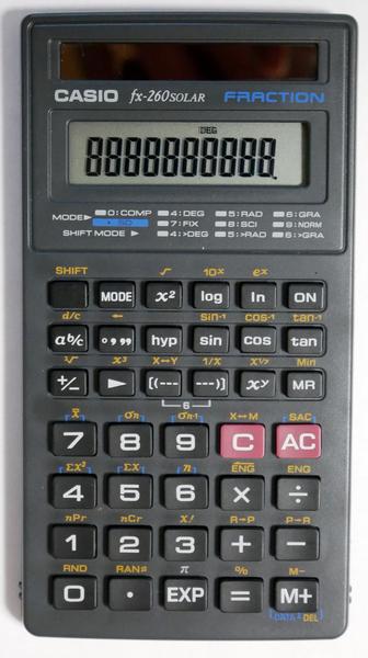 関数電卓 CASIO fx-260 SOLAR