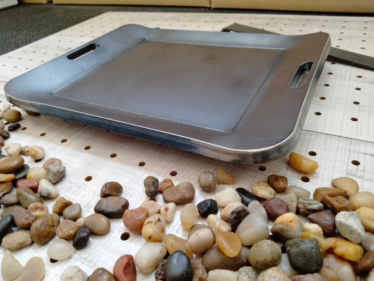 厚み9mm BBQプレート  キャンプ ソロ 鉄板 グリルプレート 黒皮鉄板
