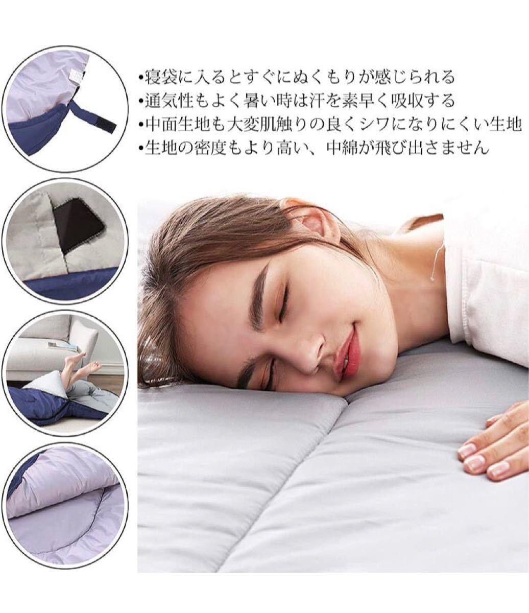 寝袋 封筒型 軽量 保温 210T防水シュラフ アウトドア キャンプ 防災用