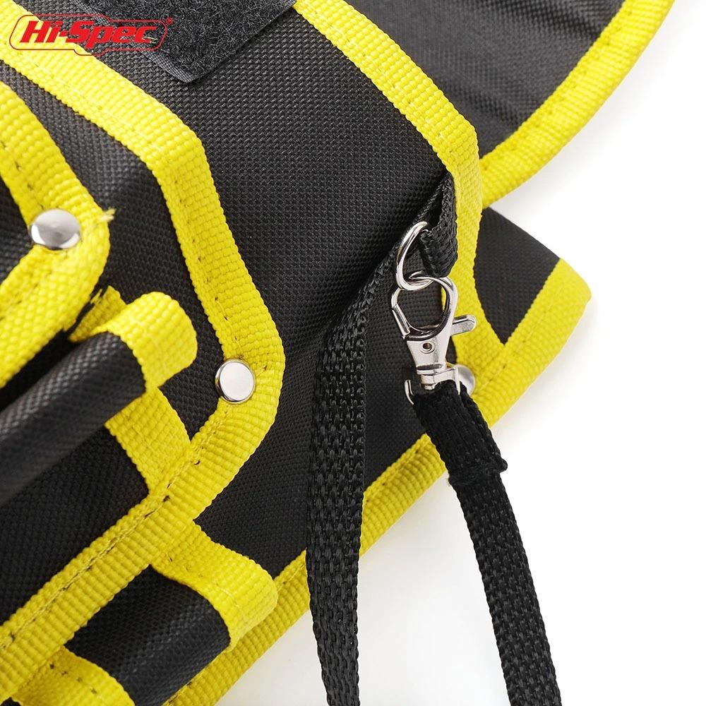 新品 送料無料 工具入れ ウエストツールバッグ 工具差し 腰袋 工具収納 多機能 道具袋 オックスフォード 防水 サイズ調整 DIY 黒黄色迷彩_画像4