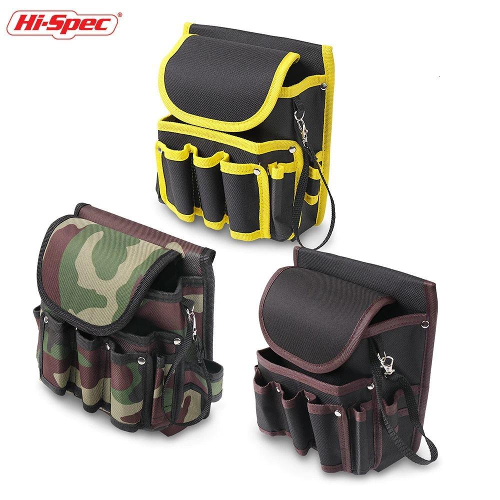 新品 送料無料 工具入れ ウエストツールバッグ 工具差し 腰袋 工具収納 多機能 道具袋 オックスフォード 防水 サイズ調整 DIY 黒黄色迷彩_画像6