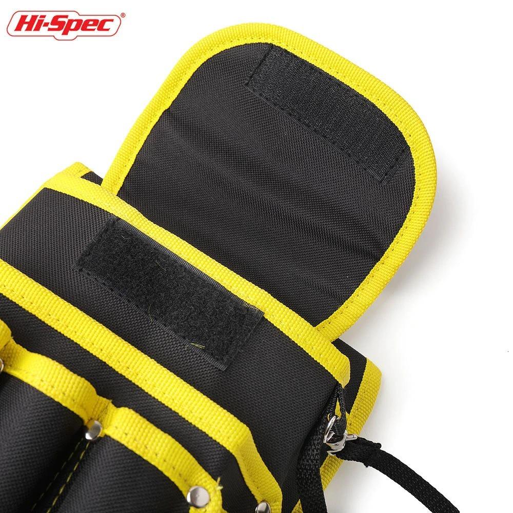 新品 送料無料 工具入れ ウエストツールバッグ 工具差し 腰袋 工具収納 多機能 道具袋 オックスフォード 防水 サイズ調整 DIY 黒黄色迷彩_画像5