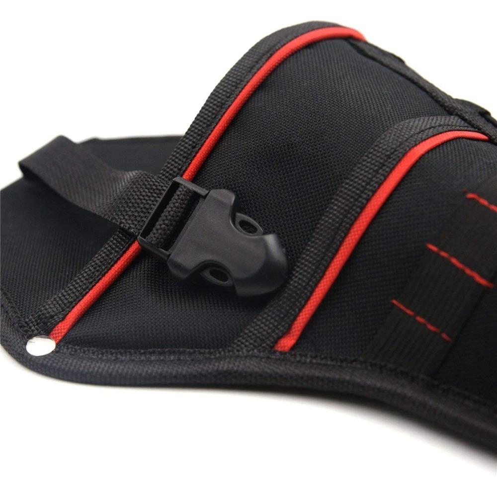 新品 送料無料 電動工具入れ 腰袋 ツールババッグ 工具収納バッグ 工具差し ドライバー入れ 多機能ポーチ ドリル 大工 DIY 黒 赤_画像5
