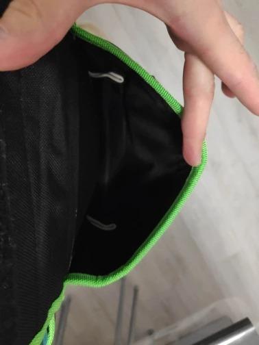 新品 ウエストツールバッグ 工具入れ 工具差し 腰袋 工具収納 多機能 道具袋 オックスフォード 防水 サイズ調整 4穴1ポケット DIY 黒 緑_画像10
