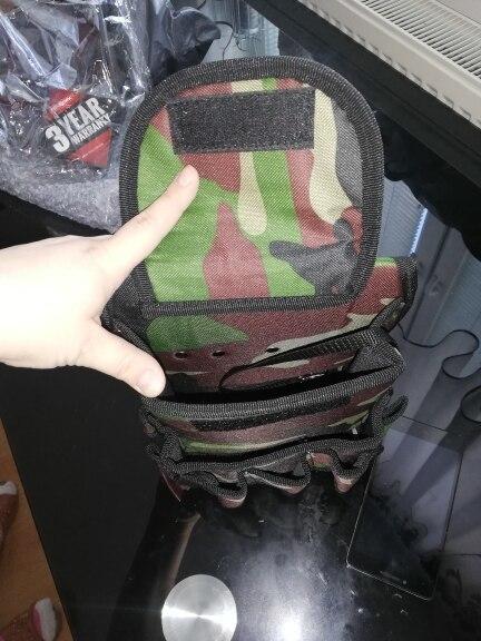 新品 送料無料 工具入れ ウエストツールバッグ 工具差し 腰袋 工具収納 多機能 道具袋 オックスフォード 防水 サイズ調整 DIY 黒黄色迷彩_画像9