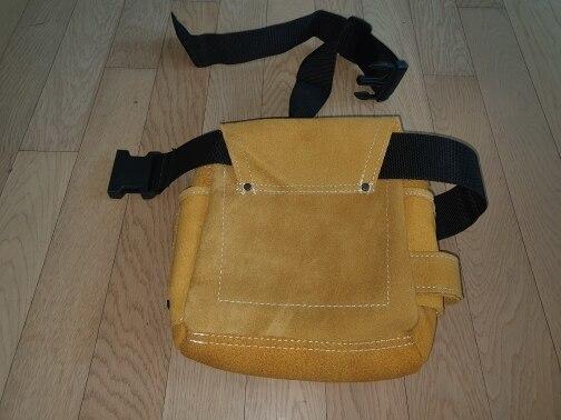 新品 送料無料 ツールウエストバッグ 工具収納 工具入れ 腰袋 工具差し 多機能 ツールポーチ ワークポケット 調節可能ベルト DIY 黄色_画像10