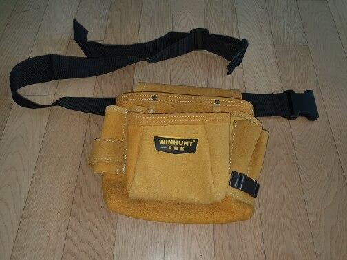 新品 送料無料 ツールウエストバッグ 工具収納 工具入れ 腰袋 工具差し 多機能 ツールポーチ ワークポケット 調節可能ベルト DIY 黄色_画像9