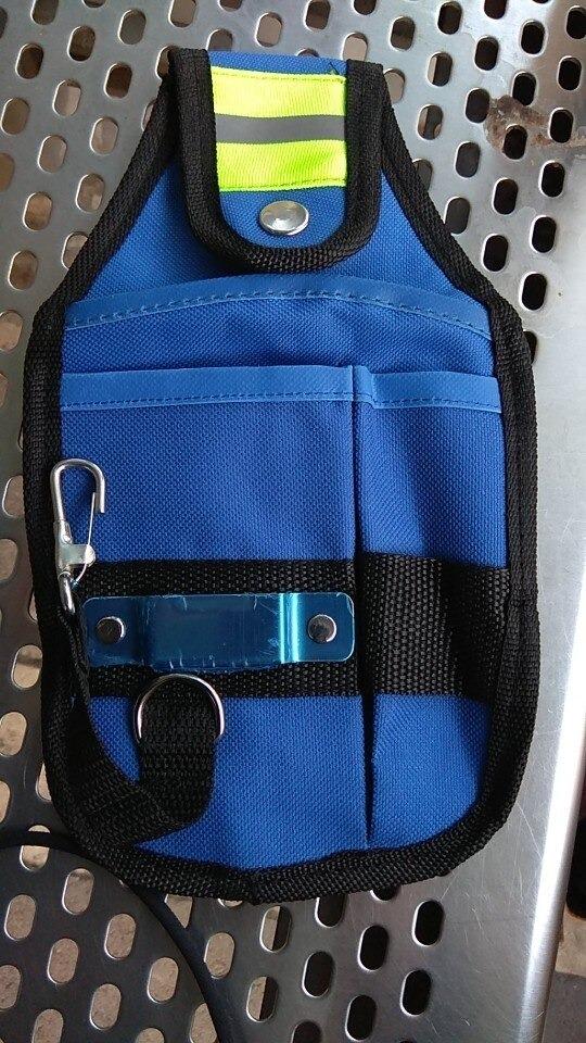新品 工具入れ ウエストツールバッグ 工具差し 腰袋 工具収納 多機能 道具袋 オックスフォード 防水 サイズ調整 DIY 黒 青_画像8