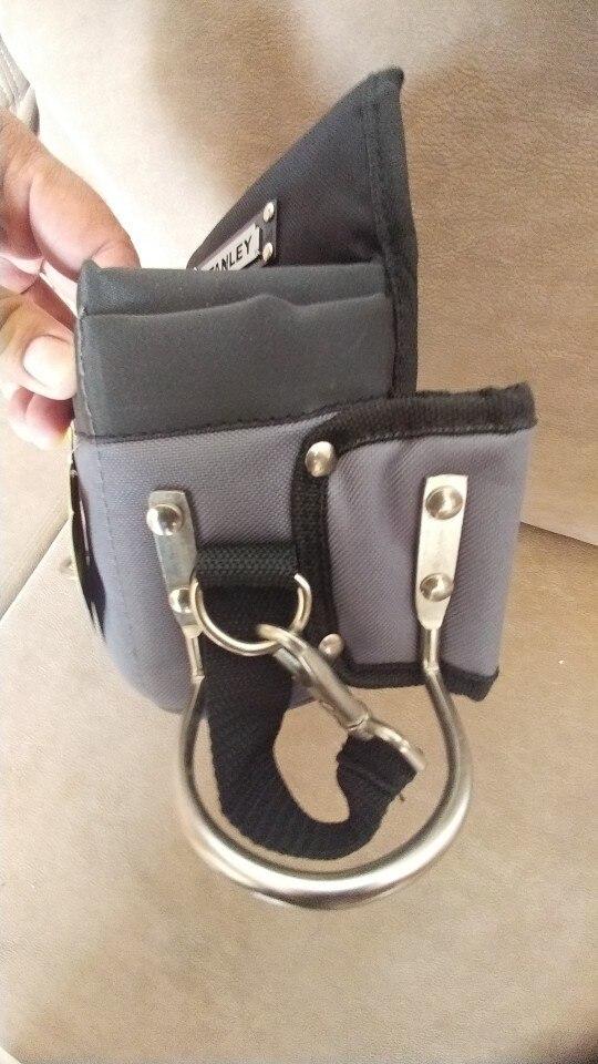 新品 送料無料 ツールウエストバッグ 工具収納 工具入れ 腰袋 工具差し かばん ハンマーホルダー ワークポケット 調節可能ベルト DIY_画像7