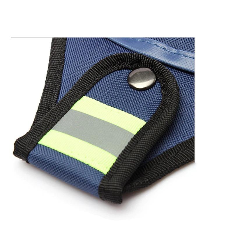 新品 工具入れ ウエストツールバッグ 工具差し 腰袋 工具収納 多機能 道具袋 オックスフォード 防水 サイズ調整 DIY 黒 青_画像4