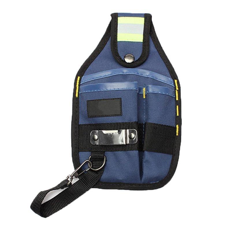 新品 工具入れ ウエストツールバッグ 工具差し 腰袋 工具収納 多機能 道具袋 オックスフォード 防水 サイズ調整 DIY 黒 青_画像1