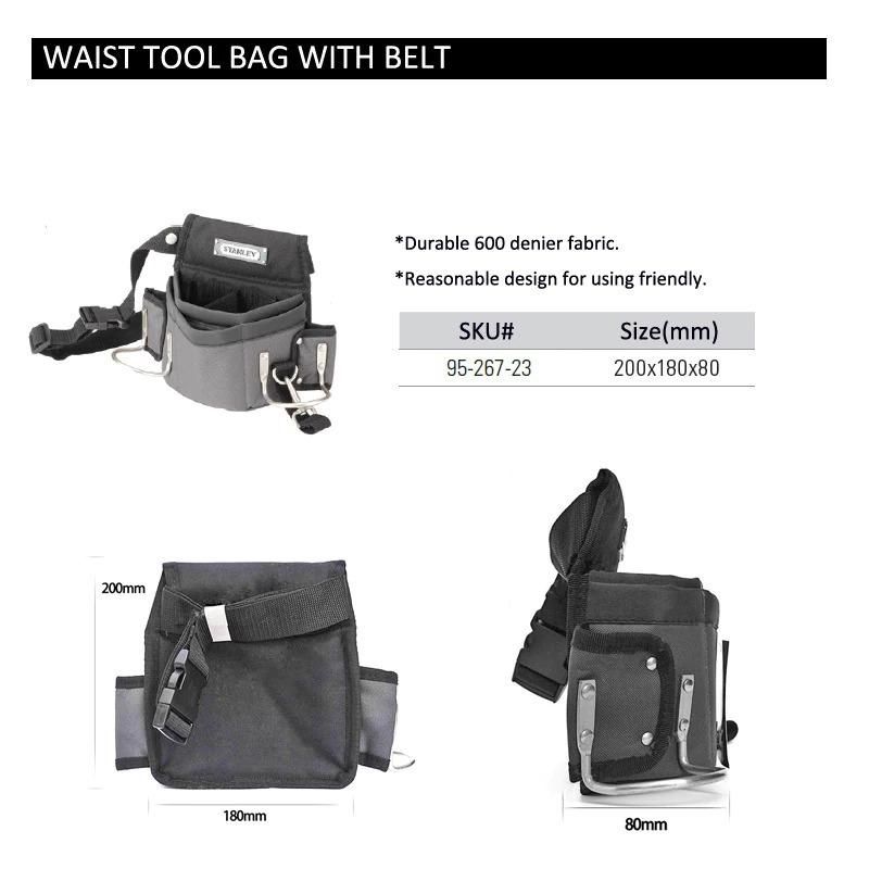新品 送料無料 ツールウエストバッグ 工具収納 工具入れ 腰袋 工具差し かばん ハンマーホルダー ワークポケット 調節可能ベルト DIY_画像6