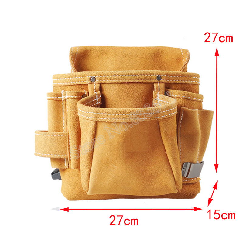 新品 送料無料 ツールウエストバッグ 工具収納 工具入れ 腰袋 工具差し 多機能 ツールポーチ ワークポケット 調節可能ベルト DIY 黄色_画像2