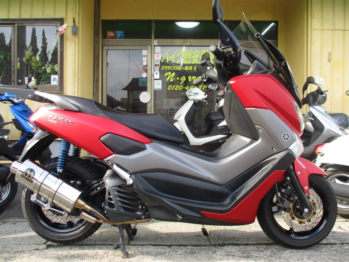 「☆NMAX155☆高速道路OK☆SP忠雄マフラー☆通勤☆通学☆ツーリング☆格安☆岡山発☆」の画像1