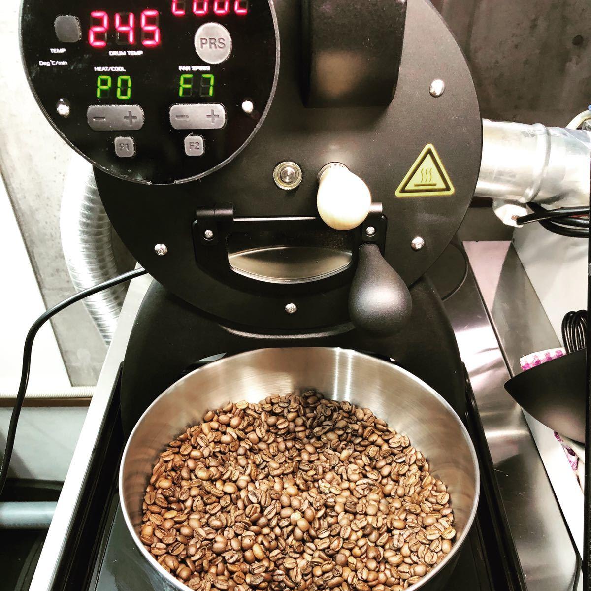 アイスカフェ・ラテ用 フレンチローストコーヒー豆 100g×2袋 オーダー焙煎珈琲豆 送料無料 お試し用_画像5