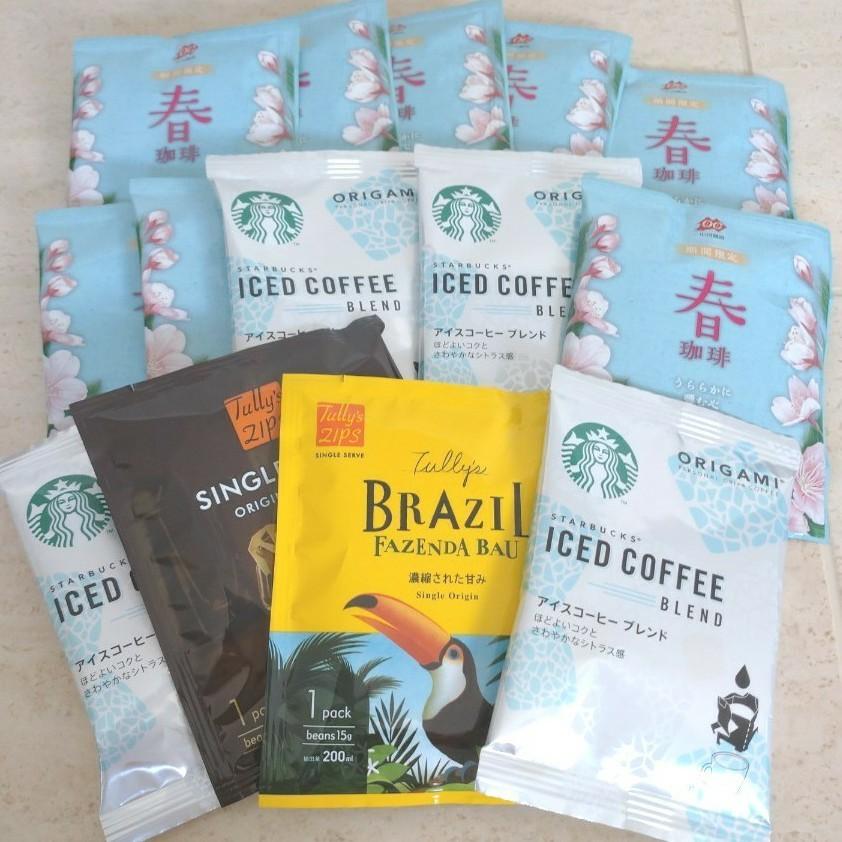 スターバックス タリーズコーヒー 小川珈琲 ドリップコーヒー 14袋 オリガミ