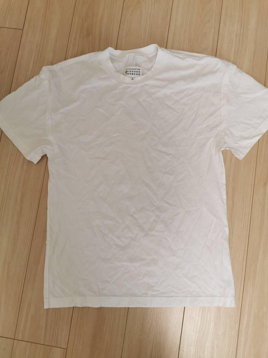 美品 2021SS Maison Margiela メゾン マルジェラ コットン Tシャツ 白 46 M L オーバーサイズ 新宿伊勢丹メンズ館購入 国内正規品 21SS