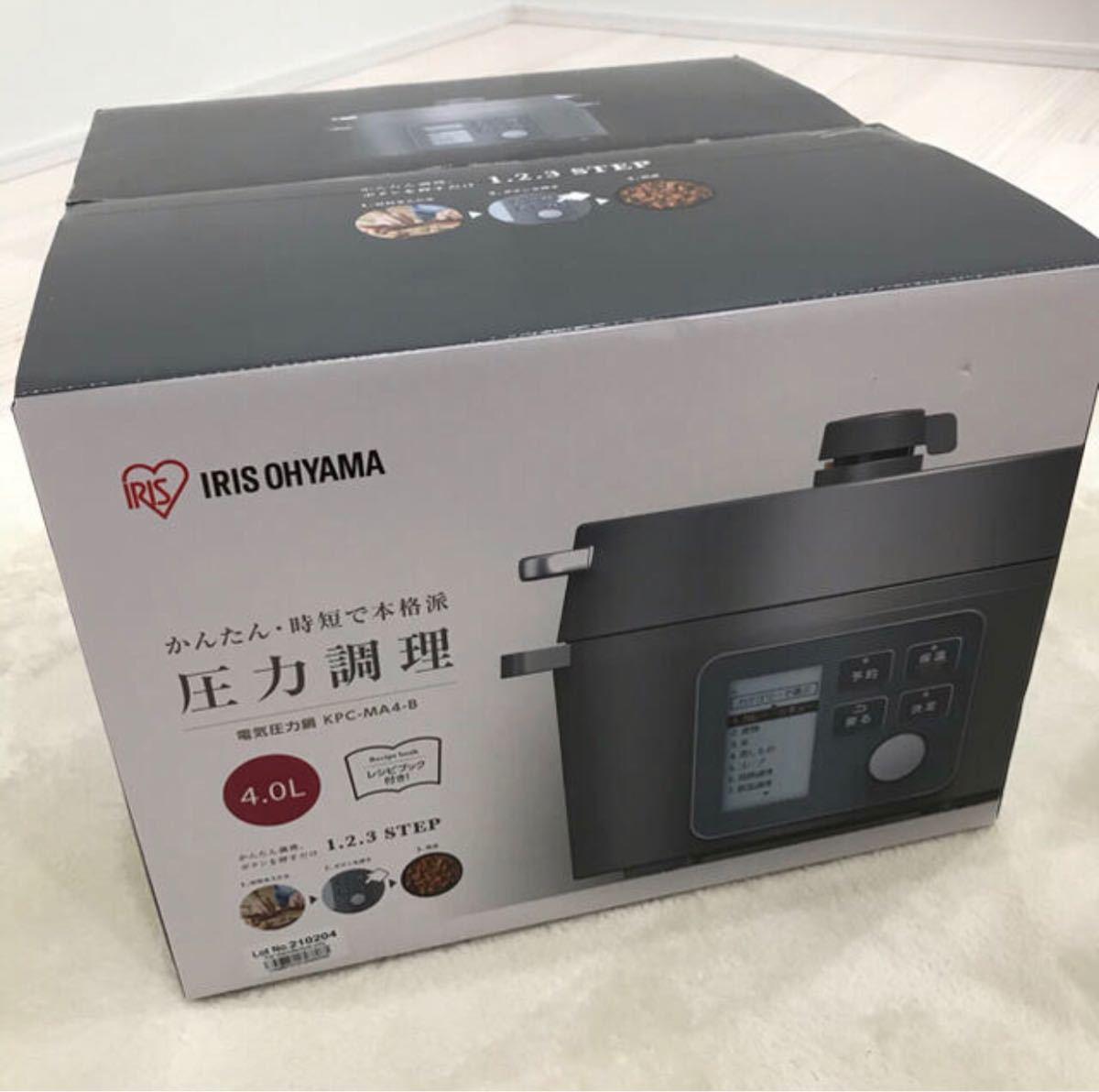アイリスオーヤマ 電気圧力鍋 ブラック IRIS OHYAMA KPC-MA4-B