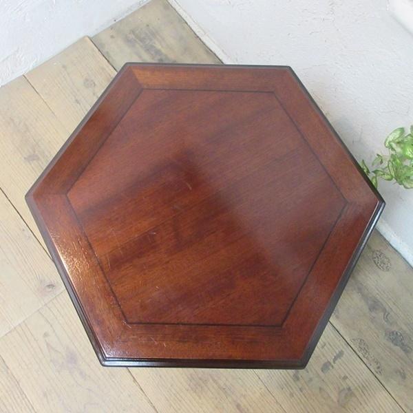 イギリス アンティーク 家具 SALE セール コーヒーテーブル サイドテーブル 飾り棚 花台 木製 マホガニー 英国 SMALLTABLE 6964b 特価_画像3