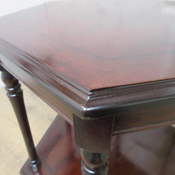 イギリス アンティーク 家具 SALE セール コーヒーテーブル サイドテーブル 飾り棚 花台 木製 マホガニー 英国 SMALLTABLE 6964b 特価_画像5