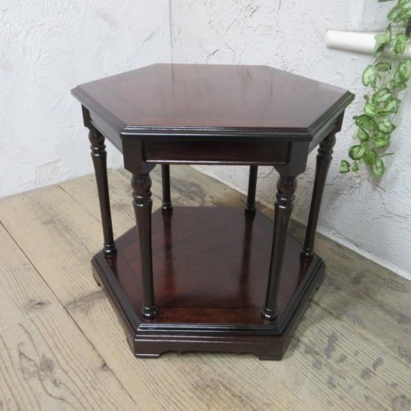 イギリス アンティーク 家具 SALE セール コーヒーテーブル サイドテーブル 飾り棚 花台 木製 マホガニー 英国 SMALLTABLE 6964b 特価_画像2