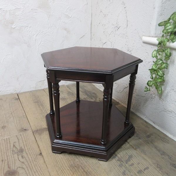 イギリス アンティーク 家具 SALE セール コーヒーテーブル サイドテーブル 飾り棚 花台 木製 マホガニー 英国 SMALLTABLE 6964b 特価_画像1