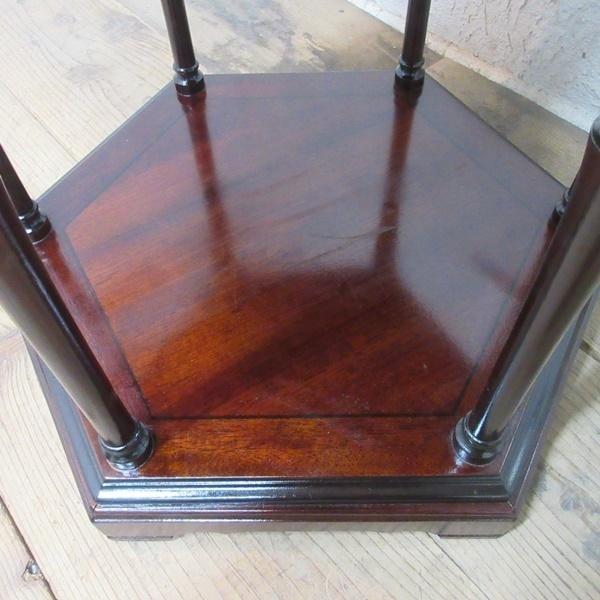 イギリス アンティーク 家具 SALE セール コーヒーテーブル サイドテーブル 飾り棚 花台 木製 マホガニー 英国 SMALLTABLE 6964b 特価_画像8