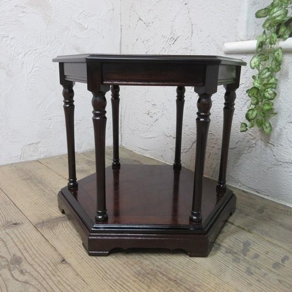 イギリス アンティーク 家具 SALE セール コーヒーテーブル サイドテーブル 飾り棚 花台 木製 マホガニー 英国 SMALLTABLE 6964b 特価_画像4