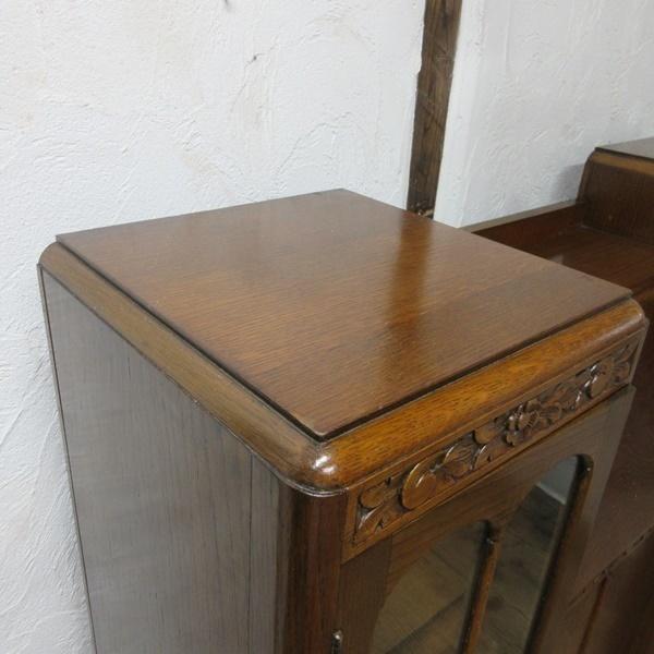 イギリス アンティーク 家具 CC41 サイドバイサイド ビューロー ディスプレイ 飾り棚 収納 木製 オーク 英国 BUREAU 6172c 新入荷_画像5