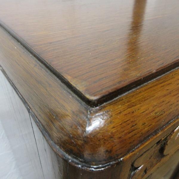 イギリス アンティーク 家具 CC41 サイドバイサイド ビューロー ディスプレイ 飾り棚 収納 木製 オーク 英国 BUREAU 6172c 新入荷_画像7