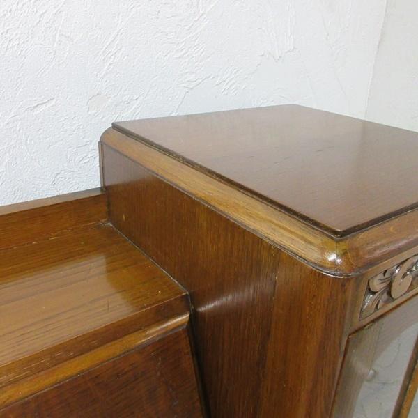 イギリス アンティーク 家具 CC41 サイドバイサイド ビューロー ディスプレイ 飾り棚 収納 木製 オーク 英国 BUREAU 6172c 新入荷_画像10